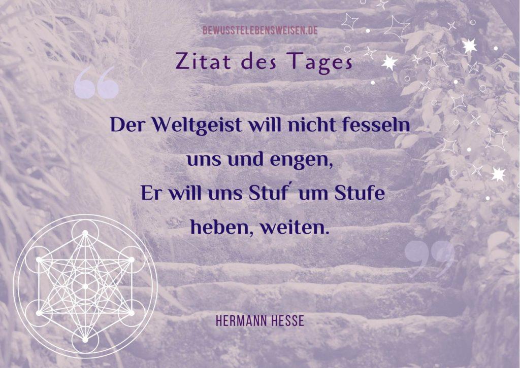 """Hermann Hesse Gedicht """"Stufen"""" von Hermann Hesse"""